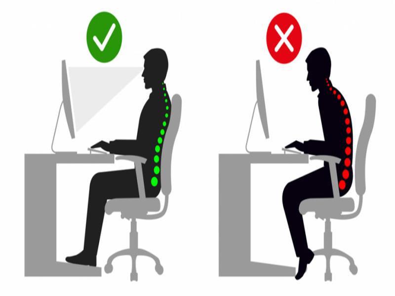 طریقه صحیح نشستن روی صندلی اداری